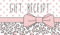 The Daisy Shoppe designed these cute, feminine gift receipt cards with the same chic feel of the clothing boutique.