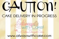 Cake deleivery business car magnet