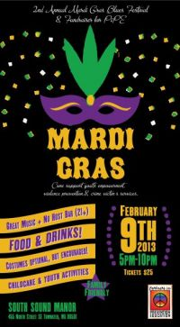 Mardi Grad colorful print marketing