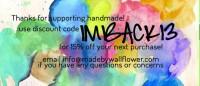 Vibrant mini business card coupon