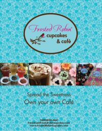 Frosted Cupcake showcases  mouthwatering desserts, with a tempting call to action for aspiring entrepreneurs.
