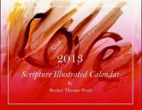 Artistic calendar with scripture