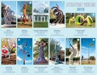 Sculpture Visions is an outdoor art exhibit in Chapel Hill, NC, featuring exquisite artwork. Guests can use this promotional brochure as a handy map guide as well as an elegant keepsake.