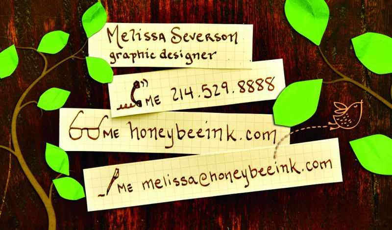 Promotional graphic design business card ad