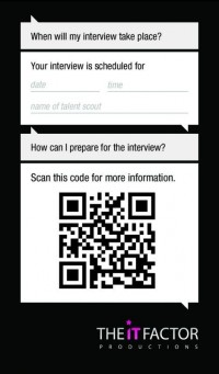 QR code promotional business card