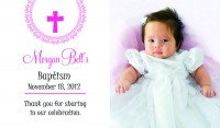 Baptism announcement magnet