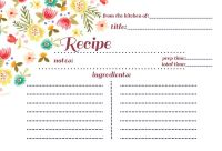 Recipe postcard design