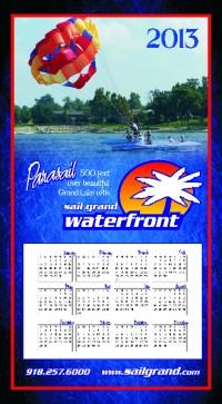 Clever calendar postcard