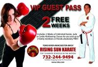 Karate promotional postcard