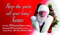 Santa business card