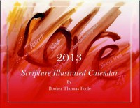 Artistic calendar with scripture