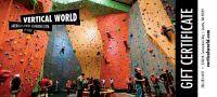 Rock climbing rack card ad