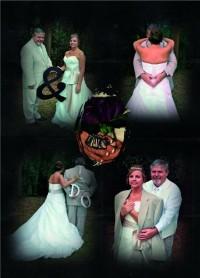 Wedding photo postcard